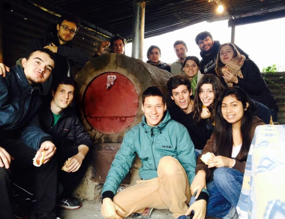 Contruccion del horno en la Huerta